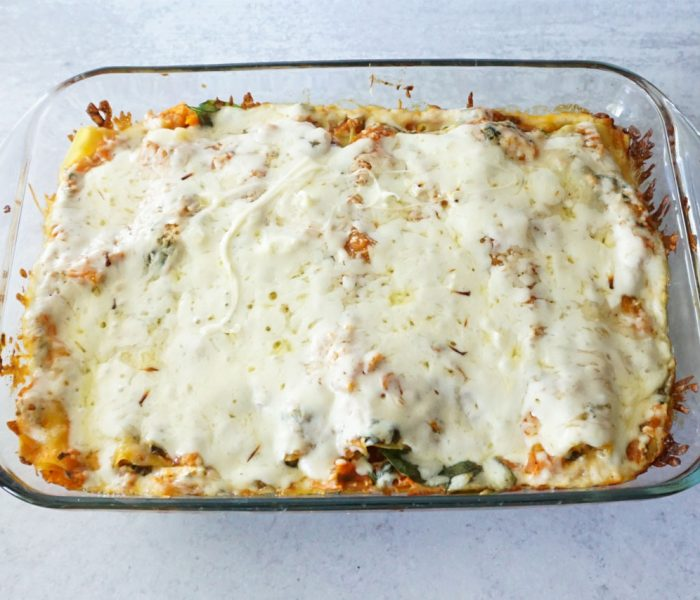 Roasted Vegetable Lasagna- With Four Ingredient Sauce